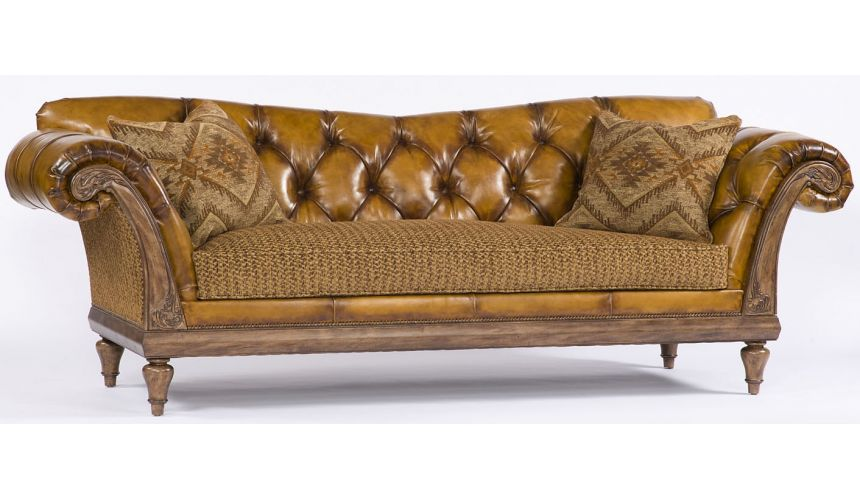 SOFA, COUCH & LOVESEAT Carmel Leather Sofa with curved arm