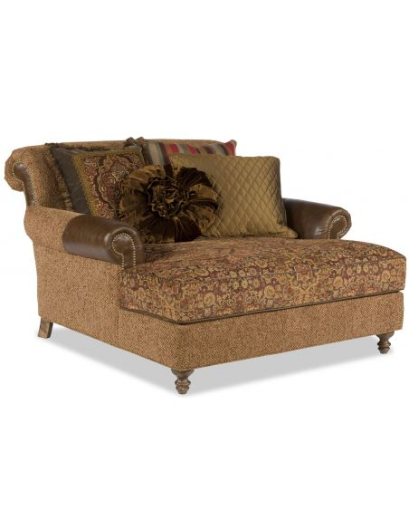 Western Furniture Oversized brown chaise