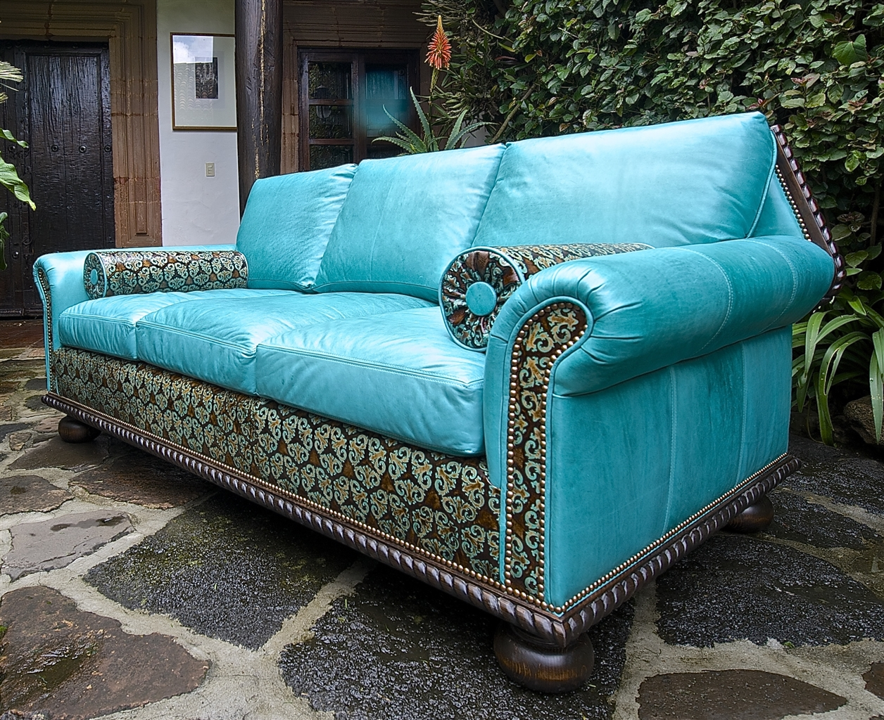 Teal Blue Leather Sofa Sofa Navy Blue Leather Sectional On