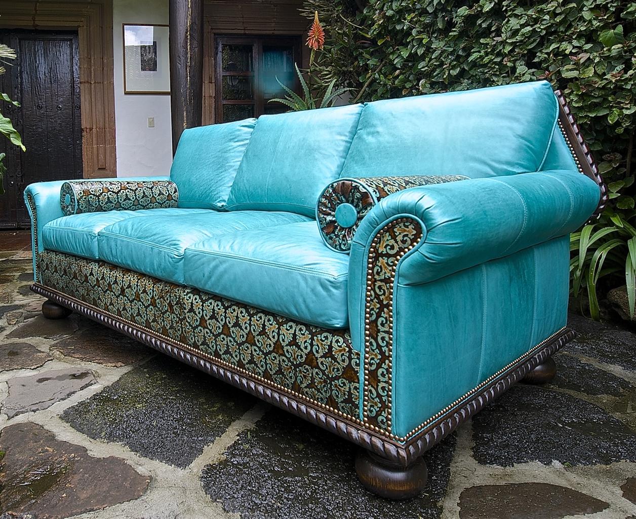 Teal Blue Leather Sofa Ideas