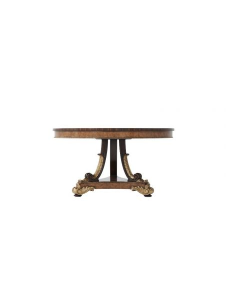 Foyer and Center Tables Elegantly Royal Ebonised Parquetry Center Table