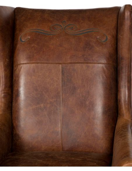Luxury Leather & Upholstered Furniture Brown Leather Club Armchair