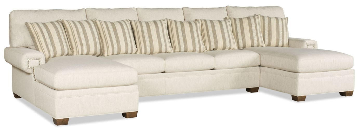 SECTIONALS - Leather & High End Upholstered Furniture Double Chaise  Sectional