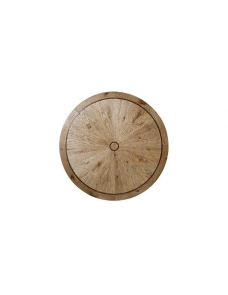 Round and Oval Coffee tables Deluxe Round Rustic Oak Table