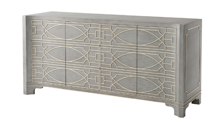 Breakfronts & China Cabinets High End and Sleek Stone Shaded Cabinet