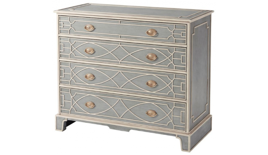 Chest of Drawers Exquisitely Patterned Spruce Chest of Drawers