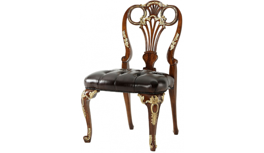 Dining Chairs Luxurious Royal Queen of Night Side Chair