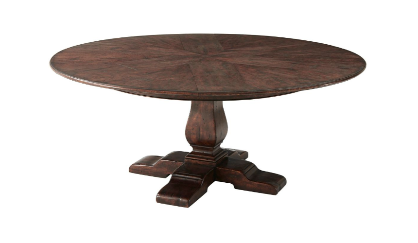 Round Extending Dining Tables Deluxe Vanilla Latte Dining Table