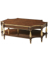 Round and Oval Coffee tables Classic and Grand Cocktail Table with Patterned Woodwork