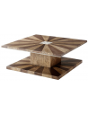 Rectangular and Square Coffee Tables Gorgeous Geometric Sunrise Cocktail Table