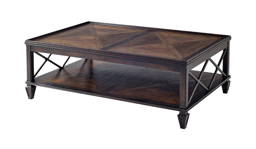 Rectangular and Square Coffee Tables Luxurious Mocha Rectangular Cocktail Table