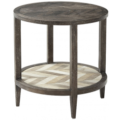 Lovely Mahogany Chevron Accent Table