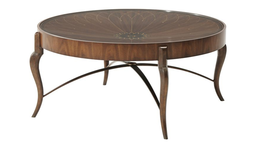 Round and Oval Coffee tables Gorgeous First Bloom Cocktail Table
