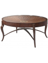 Round and Oval Coffee tables Beautiful Petals of Summer Oval Cocktail Table