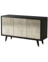 Breakfronts & China Cabinets Stunning and Sleek Smoke and Ash Cabinet