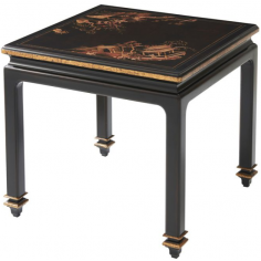 Luxurious Garden at Midnight Accent Table