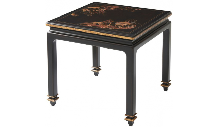 TABLES - SIDE, LAMP & BEDSIDE Luxurious Garden at Midnight Accent Table
