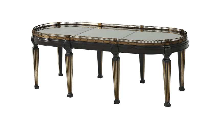 Round and Oval Coffee tables Elegant Crowned Reflection Cocktail Table