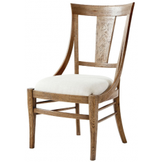 Classic Cushioned Oak Dining Chair