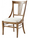 Dining Chairs Classic Cushioned Oak Dining Chair