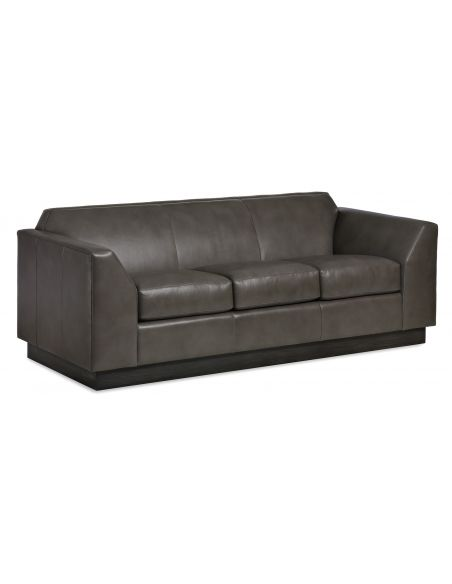 SOFA, COUCH & LOVESEAT High End Slate Gray Leather Sofa