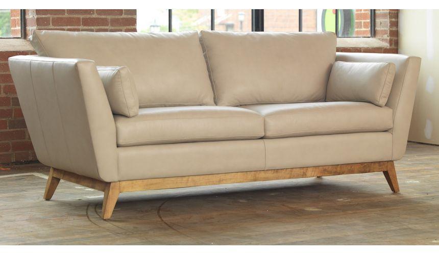 SOFA, COUCH & LOVESEAT Lovely Modern Vanilla Leather Sofa