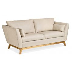 Lovely Modern Vanilla Leather Sofa