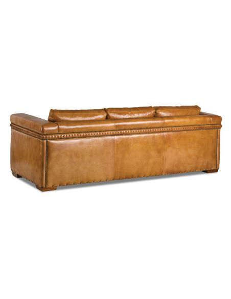 SOFA, COUCH & LOVESEAT Beautiful Marigold Leather Sofa with Intricate Detailing