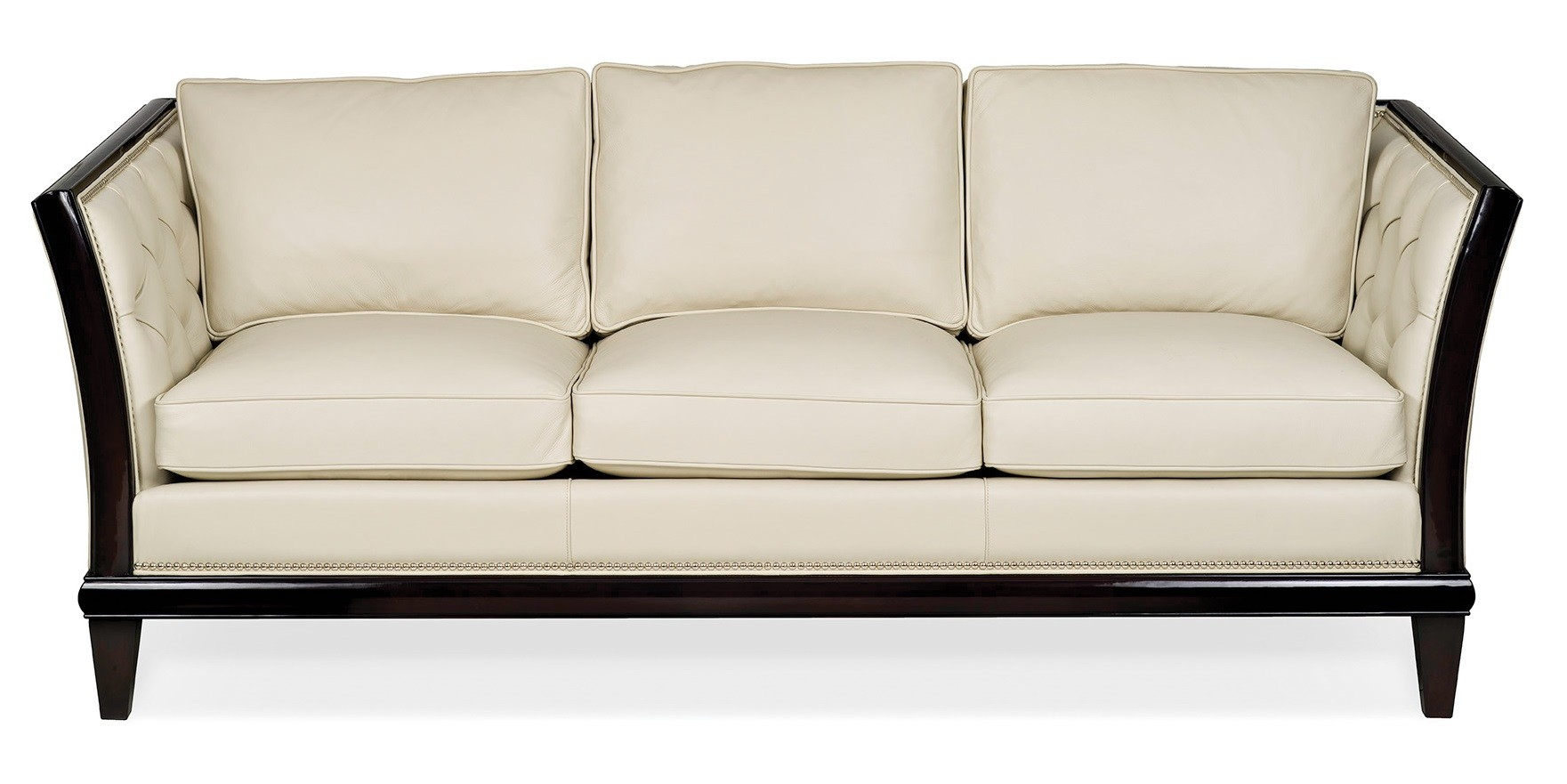 High End Off-White is the New White Leather Sofa