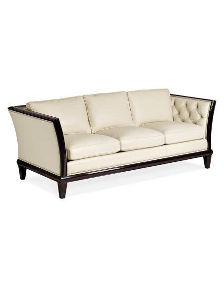 SOFA, COUCH & LOVESEAT High End Off-White is the New White Leather Sofa
