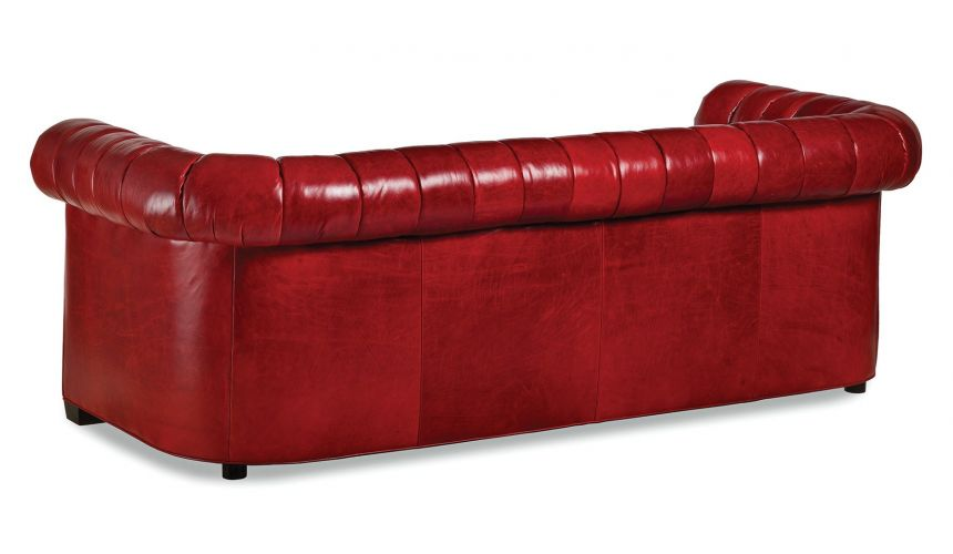 SOFA, COUCH & LOVESEAT The Devil Wears Red Hot Leather Sofa