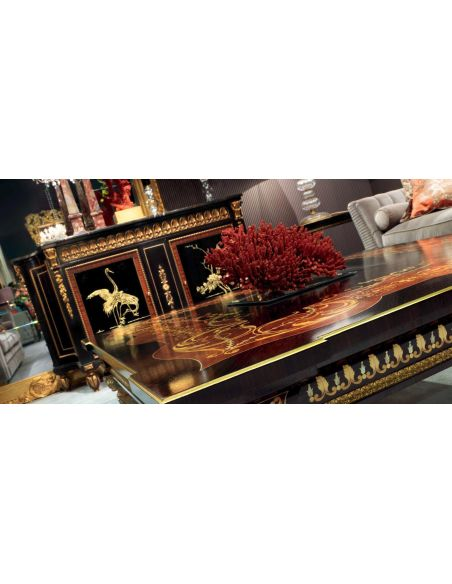 Breakfronts & China Cabinets Elegant Coral Lake at Midnight Furniture Set