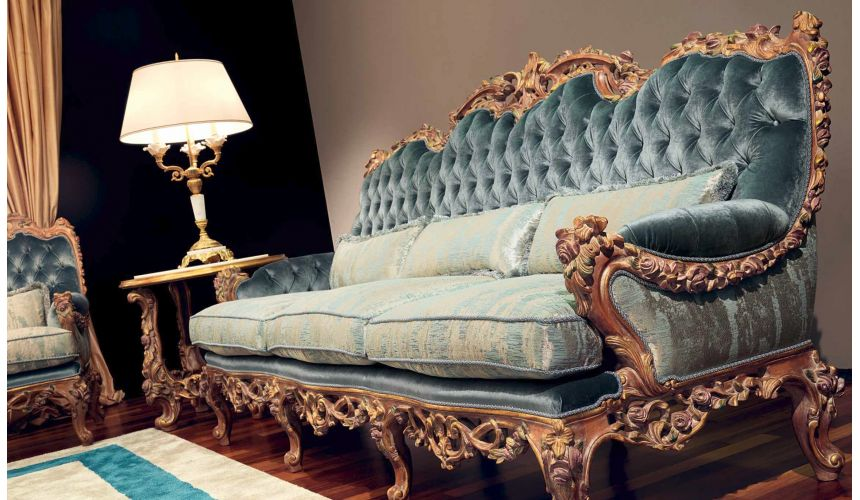 Queen and King Sized Beds Beautiful Neptune's Waves Living Room Furniture Set
