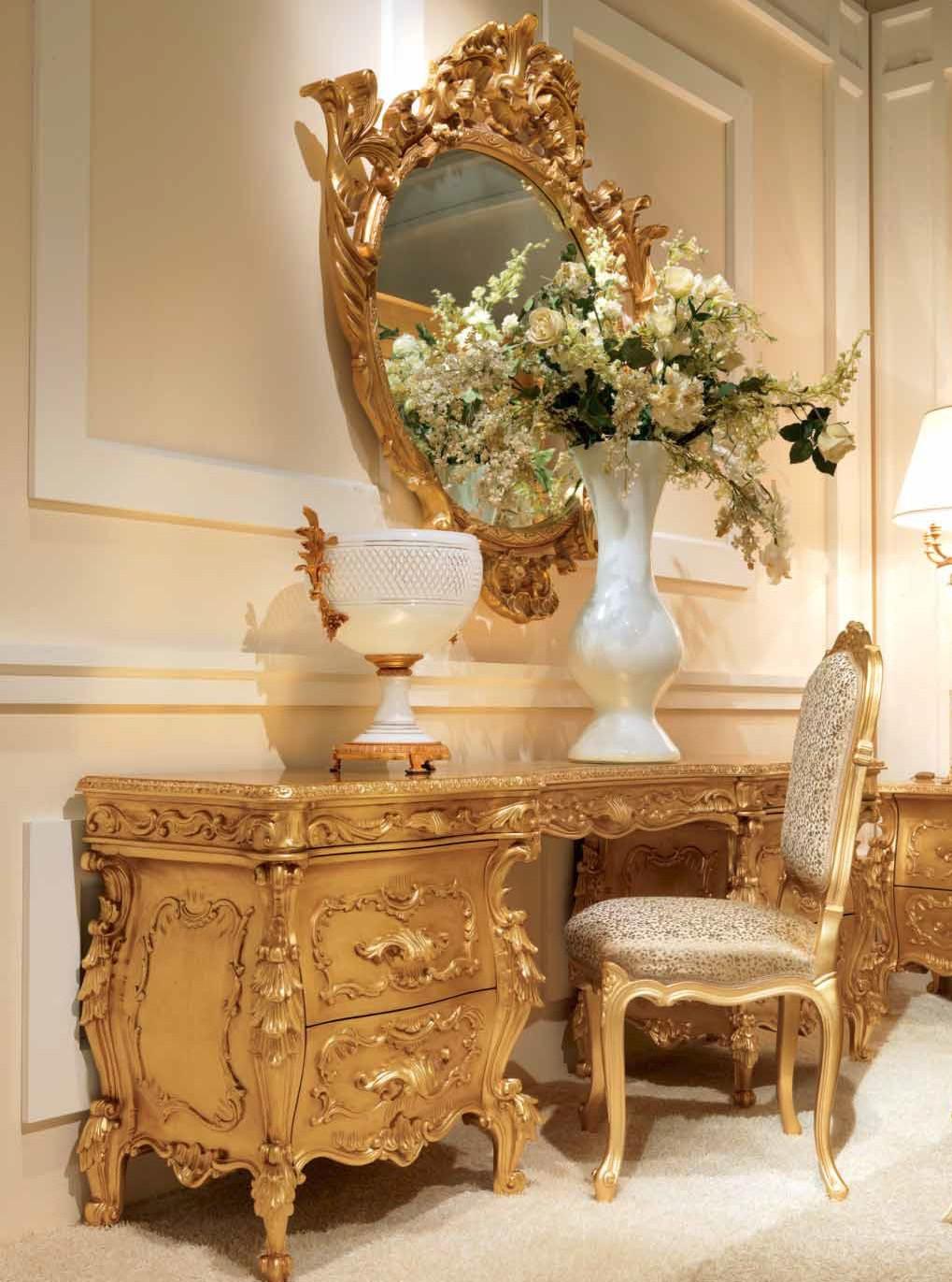 Luxurious Golden Grecian Bedroom Furniture Set