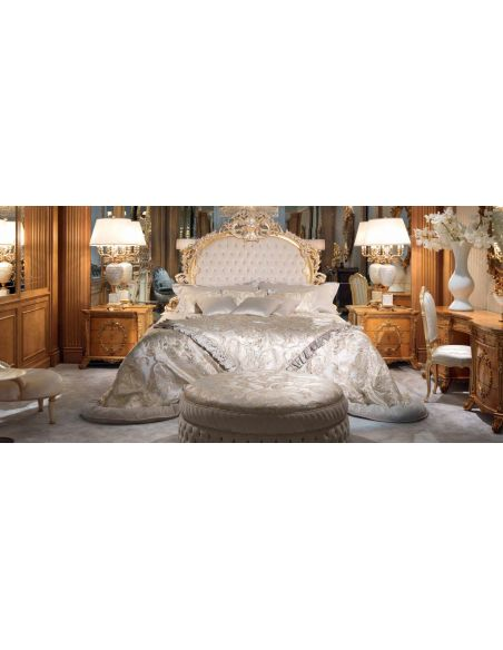 Queen and King Sized Beds Elegant Forest Silver Snow Bedroom Furniture Set