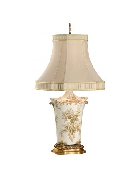 Table Lamps Floral Patterned Scalloped Toilette Bouquet Lamp
