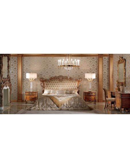 Queen and King Sized Beds Luxurious and Rustic Bronzed Fawn Bedroom Furniture Set