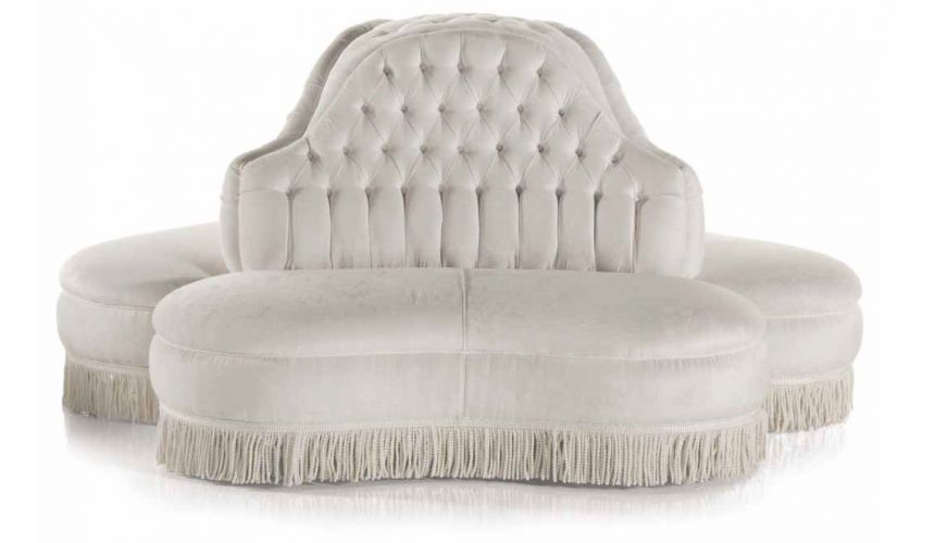 SETTEES, CHAISE, BENCHES Stunning and Chic First Snow Circular Sofa