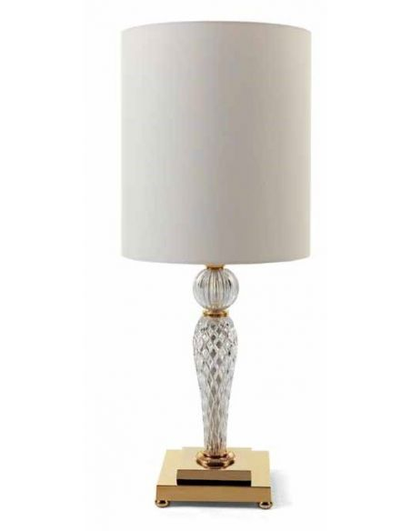 Table Lamps Luxurious Crystal Clear Lamp Set
