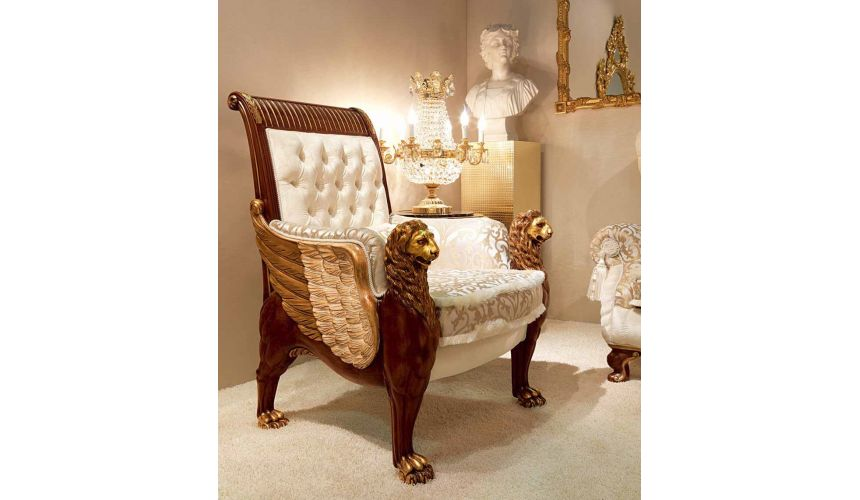 SOFA, COUCH & LOVESEAT High End Griffins in the Clouds Living Room Furniture Set