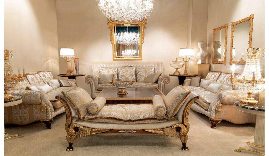 Luxurious Cinderella Blue Living Room, Blue Living Room Furniture
