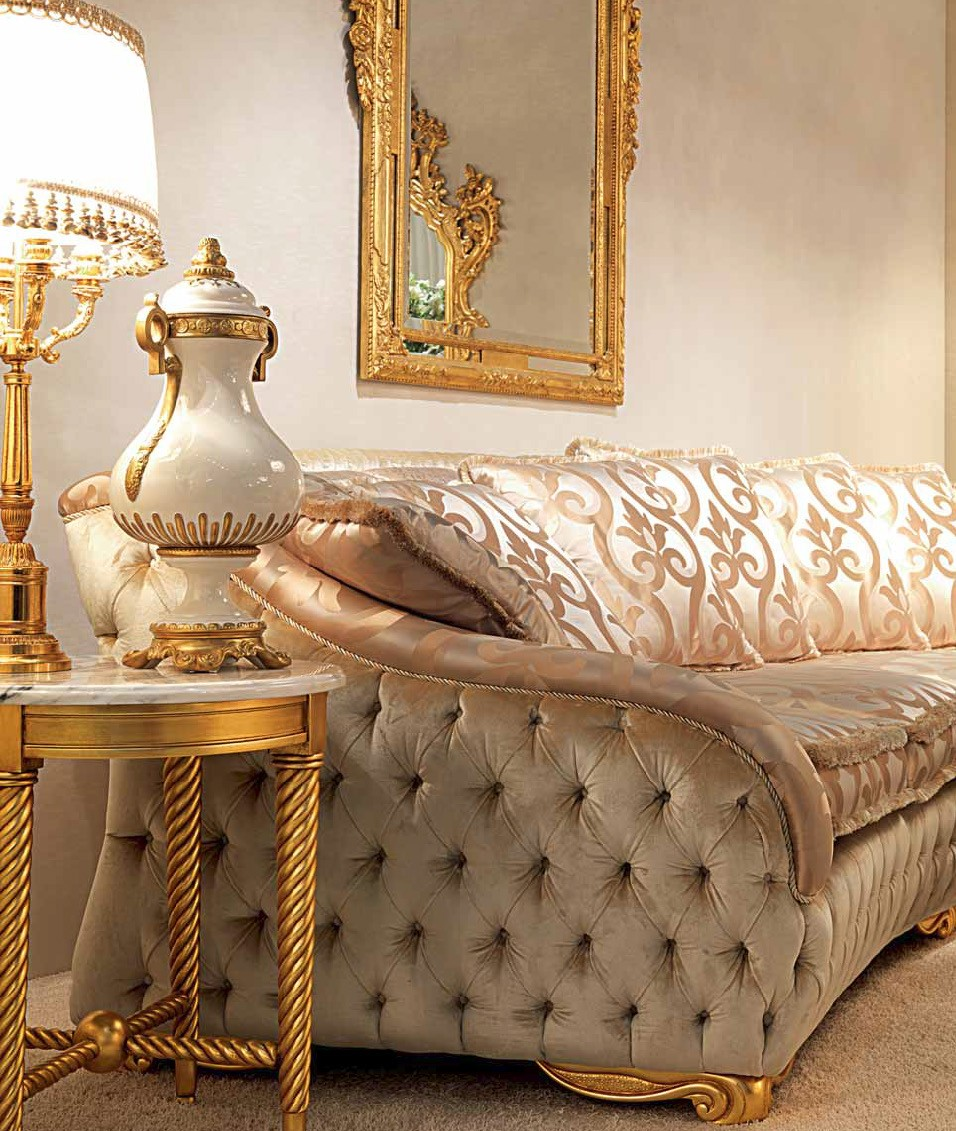 Elegant Contemporary Living Room Furniture: High End And Elegant Plush Living Room Furniture Set