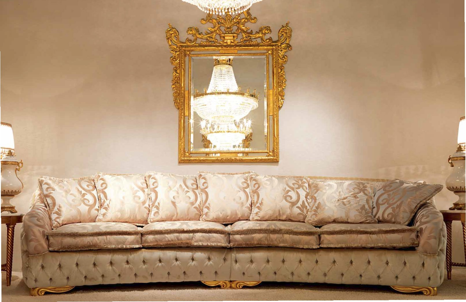 High End And Elegant Plush Living Room Furniture Set