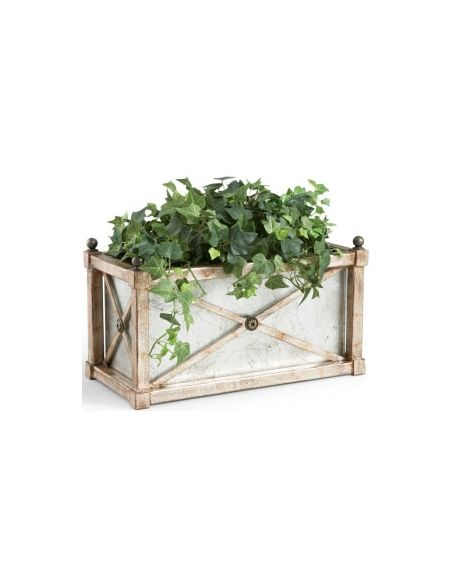 Decorative Accessories Rectangular Mirror Planter