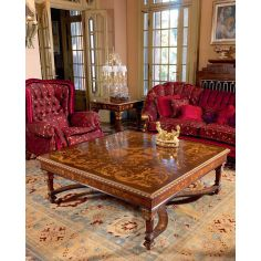 Deluxe Royal Rose and Country Side Flowers Living Room Furniture Set