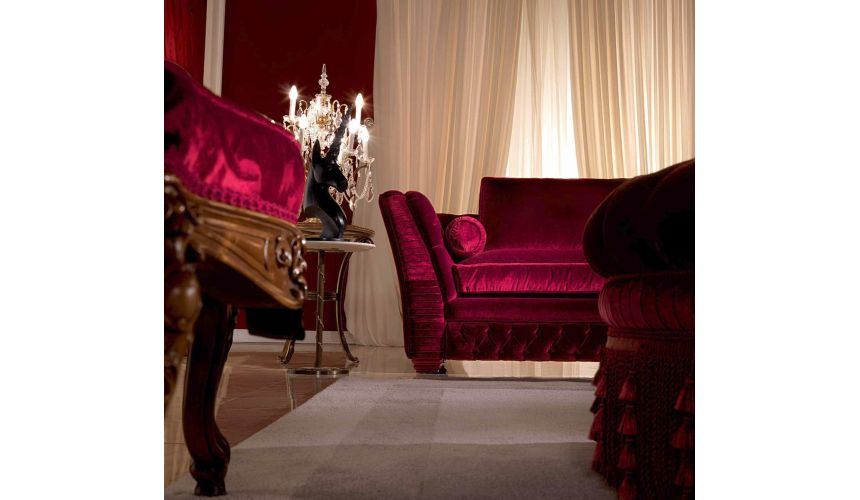 SOFA, COUCH & LOVESEAT Breathtaking Royal Ruby Living Room Furniture Set