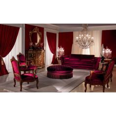 Breathtaking Royal Ruby Living Room Furniture Set