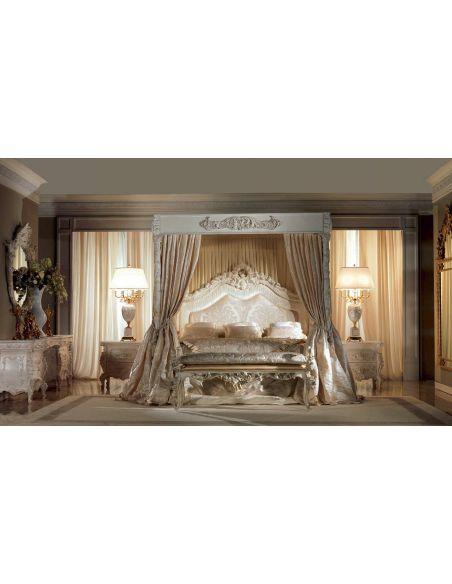 Queen and King Sized Beds Gorgeous Artemis Moonlight Ivory Bedroom Furniture Set