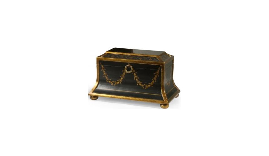 Decorative Accessories Black Regent Box with Gold Accents