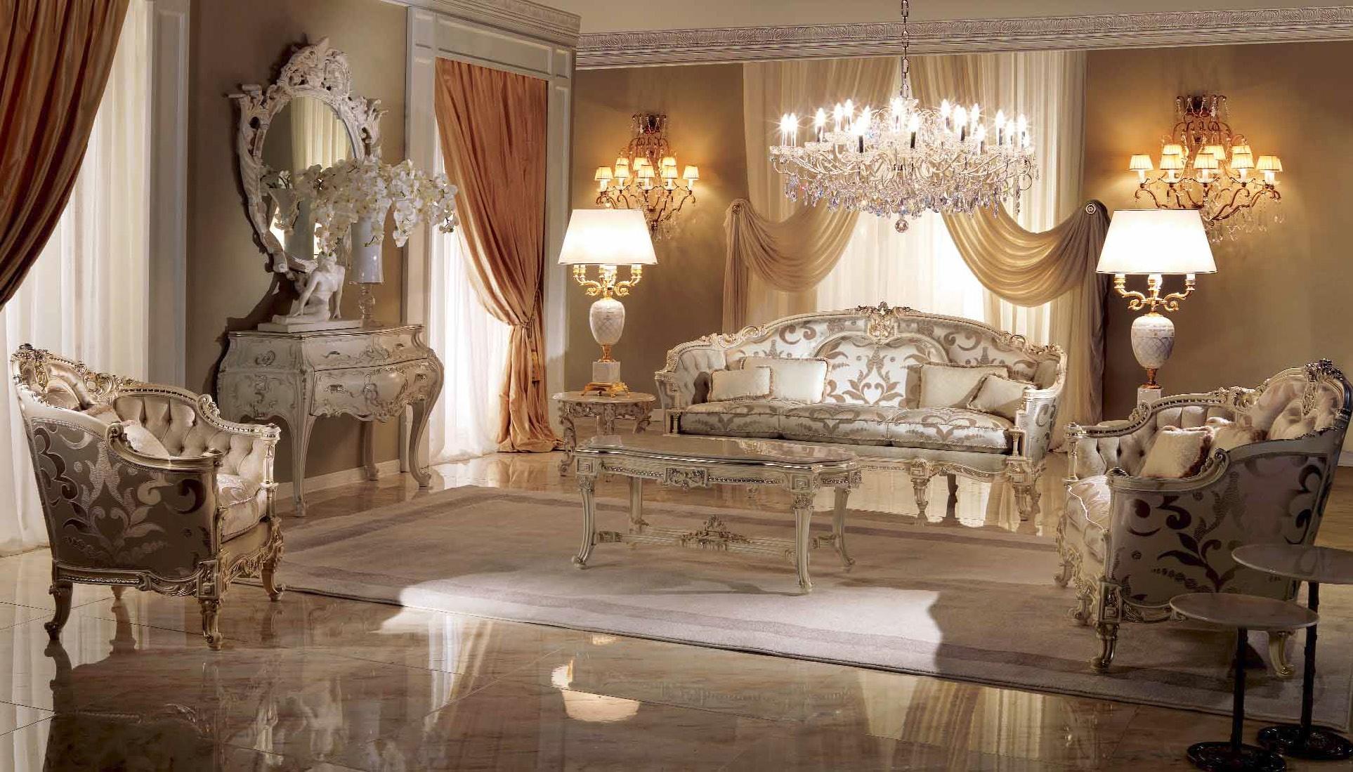 High End Moonlight Lotus Living Room Furniture Set